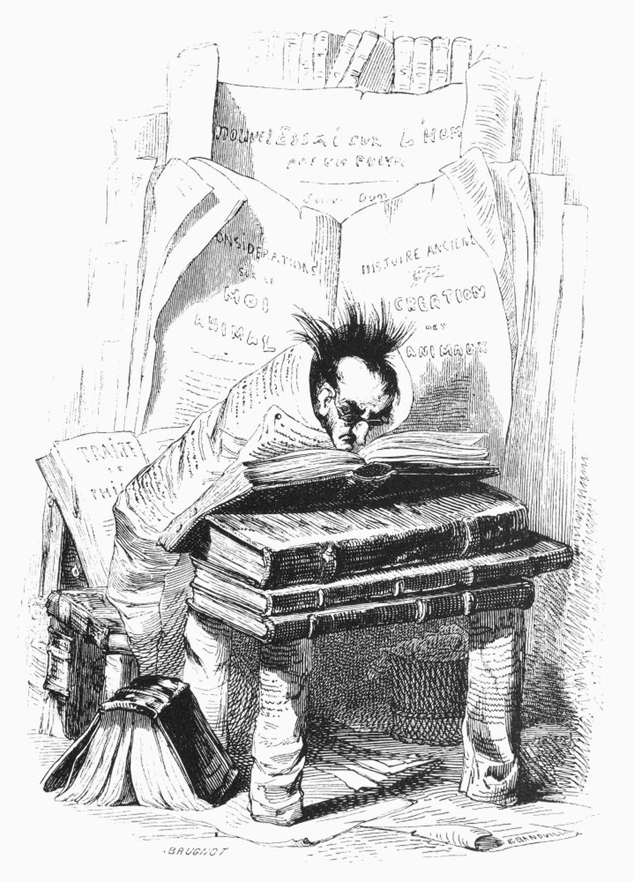 J. J. Grandville: Knihomoľ (1842)