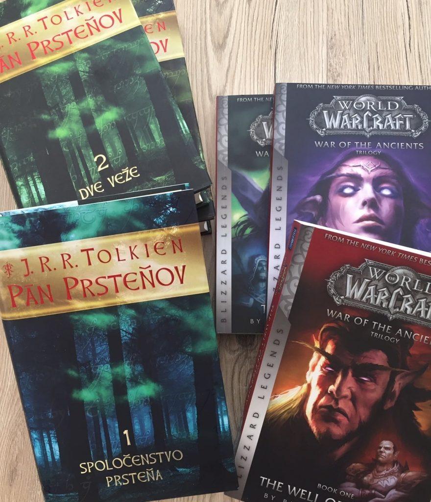 Trilógie Pán prsteňov a World of Warcraft: Vojna prastarých.